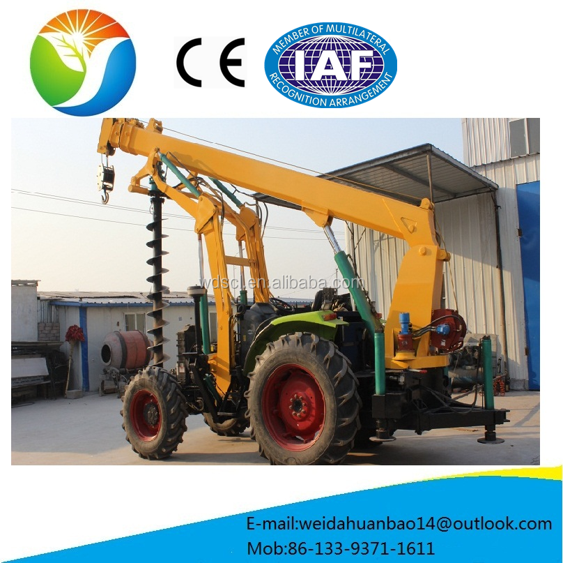 Chinese mini Hydraulic earth digging tractor with crane on sale