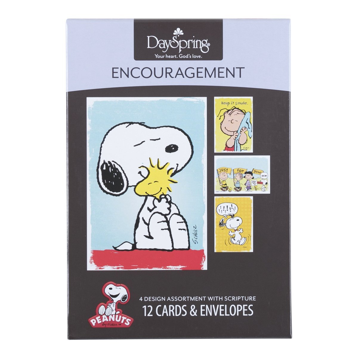 DaySpring Encouragement Greeting Card with Embossed White Envelopes