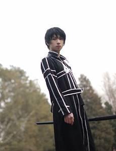 Get Quotations · Sword Art Online Kirito Black Terylene Cosplay Costumes e002f1e3c910