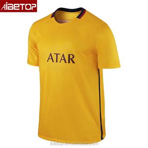 2018 Custom put your name new design yellow brazil xxl football soccer  jersey manufacturer 2017 b6d9ddbb5