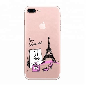 Colorful Fashion Design Custom Printed Phone Case,Clear Paris Eiffel Tower  Pattern Tpu Phone Cover For Iphone 7plus - Buy Custom Printed Phone Case