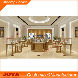 Stainless steel Jewellery showcase jewellery showroom counter design
