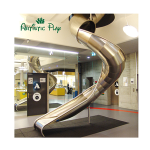 Customized Indoor stainless spiral tube steel slides for kids