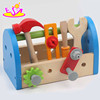 new fashion baby wooden tool box toy, top sale kids wooden tool box toy W03D063