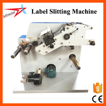 Allraise Inflatable Shaft Roll To Roll Label Die Cutter And Slitter Machine