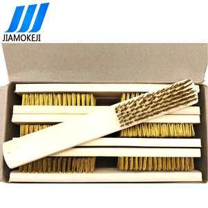 Hactory Outlet Brass Wire Brush With Wooden Handle