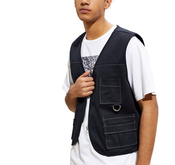 Fashion Wholesale Custom Man Priest Utility Vest utility vest multi pocket vest