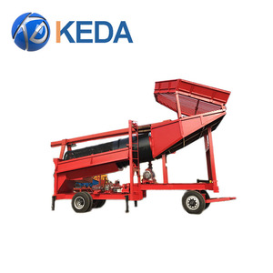 China Portable Mining mini wash plant trommel screen /small scale gold mining equipment