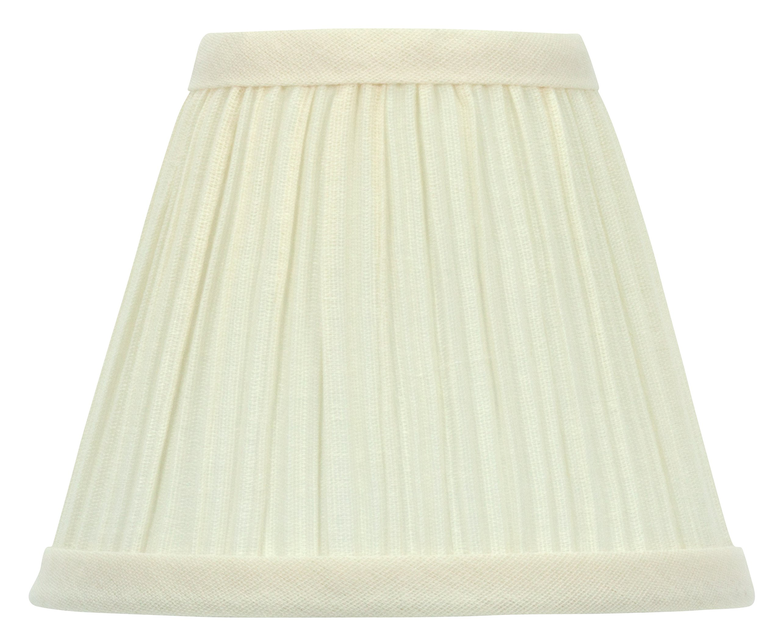 Upgradelights White Pleated Empire 8 Inch Clip On Lampshade Replacement