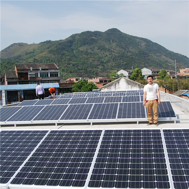 10KVA Off Grid Solar Panel System Pure Sine Wave Solar Power System Home 10000w solar energy system price
