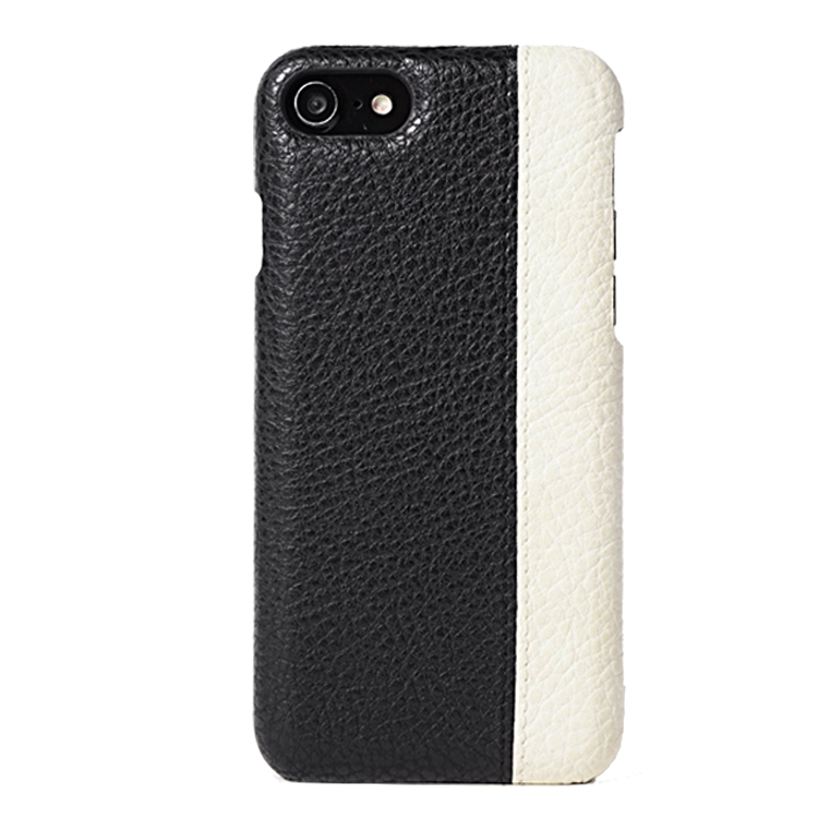 OEM/ODM custom genuine cowhide leather mobile phone back case for iphone 7 plus