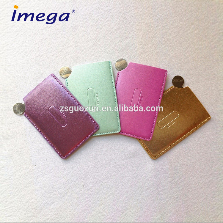 Fancy customized logo personalized Stainless Steel Makeup Handheld Pocket Mirror/Compact Mirror/Cosmetic Mirror