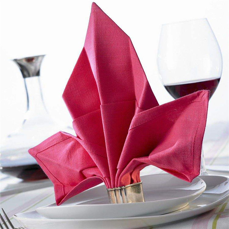 high quality printed embroidered fabric napkin dinner bar napkin