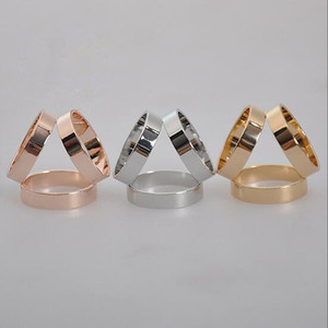 2018 Wholesale Fashion Jewelry Zinc Alloy Three Crcles Scarf Rings For Women Accessories