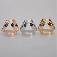Wholesale fashion jewelry zinc alloy three circles scarf rings for women accessories