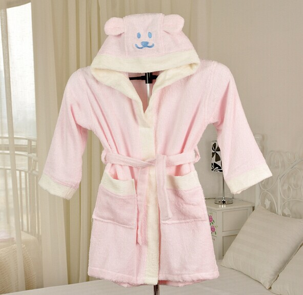 Wholesale Customized High Quality Bamboo Kids Bath Robes, Bamboo Bathrobe For Children