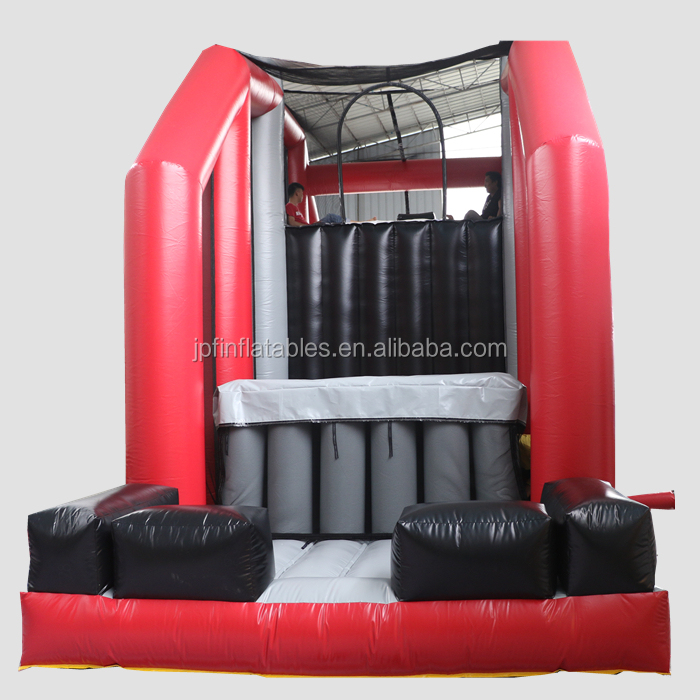 Extreme challenge Game Inflatable stunt Cliff Jump, Giant Inflatable Jump Off with slide