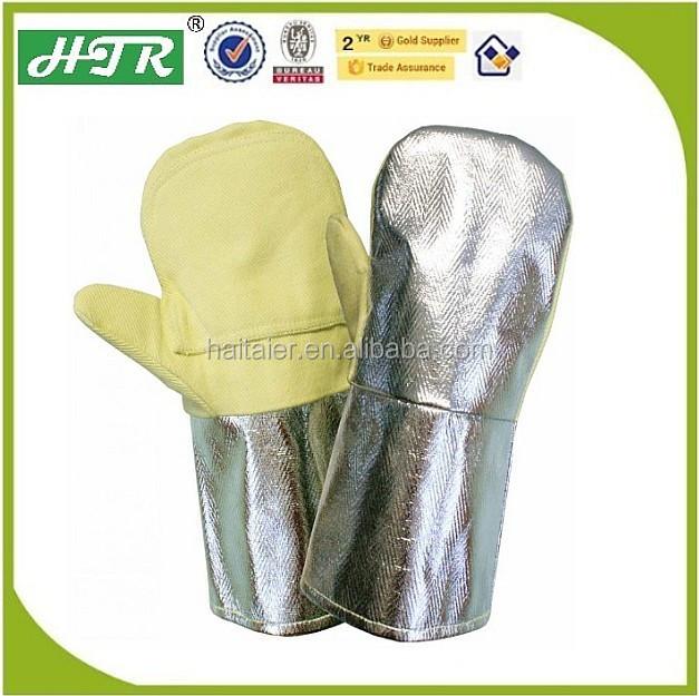 Htr Aluminium Aramid Fiber Heat Resistant Gloves