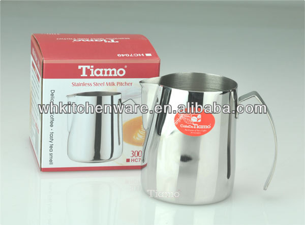 350/600/1000ML 20 Gauge 18/8 stainless steel tin milk jug