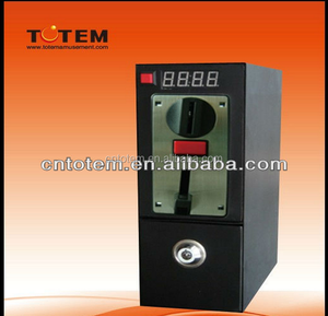 Coin timer box with coin acceptor