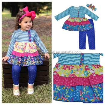 Hot Sale Kids Wear Spring And Summer Apparel Outfits Baby Girl