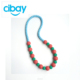 OEM beads necklace chew baby teether toy silicone pendant teether