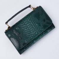 2019 New Arrival Leather Wallet for Woman Cow Leather Chain Bag Alligator Head Snake Pattern Classic Wallet Purse