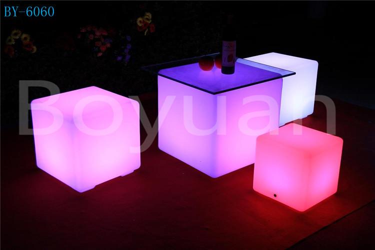 Glowing Led Cube Bar Table/LED Cube Table/LED Bar Furniture