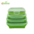 Silicone collapsible lunch-box Portable plastic foldable Lunch Box