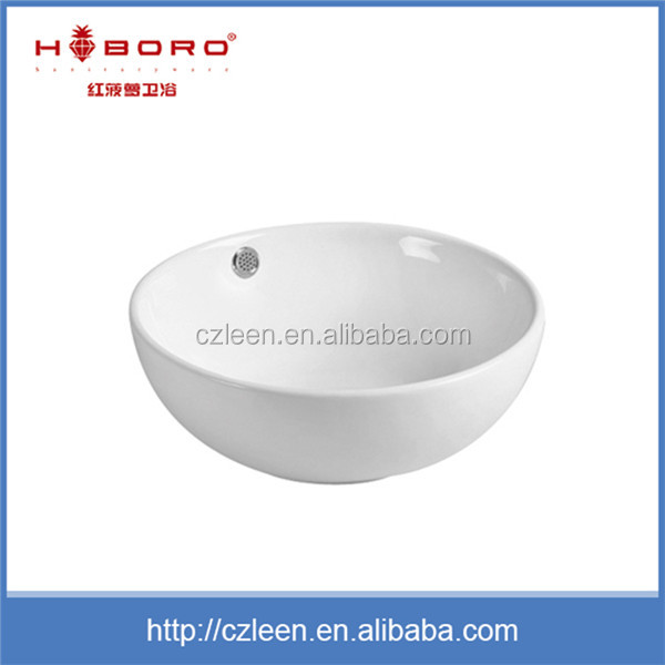 Cheap single hole modern bathroom design porcelain vanity basin
