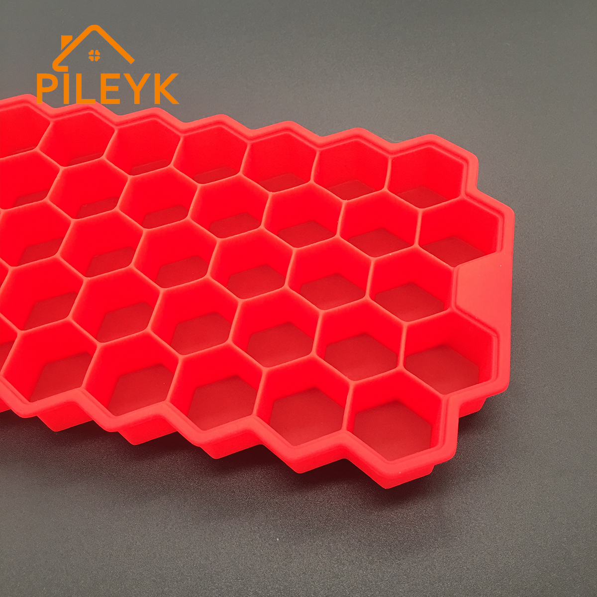 Fda/lfgb 37 Cavity Silicone Hexagon Ice Cube Tray Honeycomb Shaped Ice Cream Maker Supplies