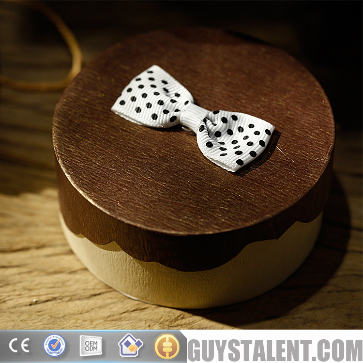 Custom packaging box design sticked bow knot paper jewelry box
