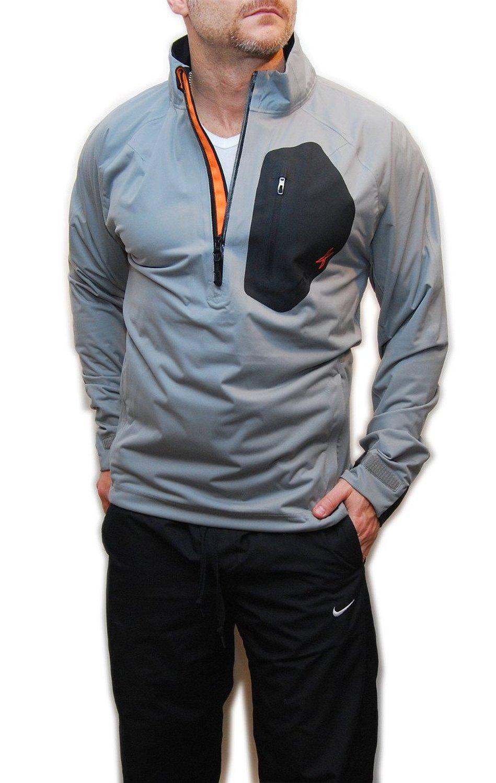 Ralph Lauren RLX Mens Polo Waterproof Golf Half-Zip Athletic Jacket Grey Black