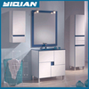 Delicate colors tempered glass shampoo sink all sanitary items double side cabinet mirror light bathroom vanity Combo