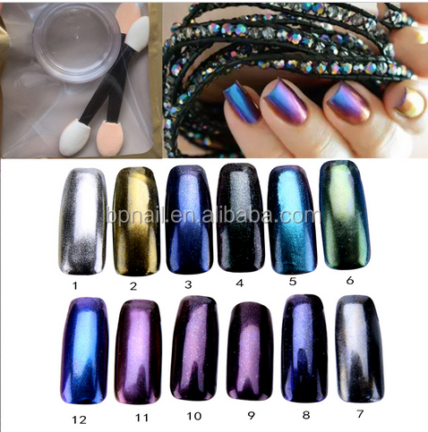 2016 Hot sell mirror powder nails/mirror chrome nail powder