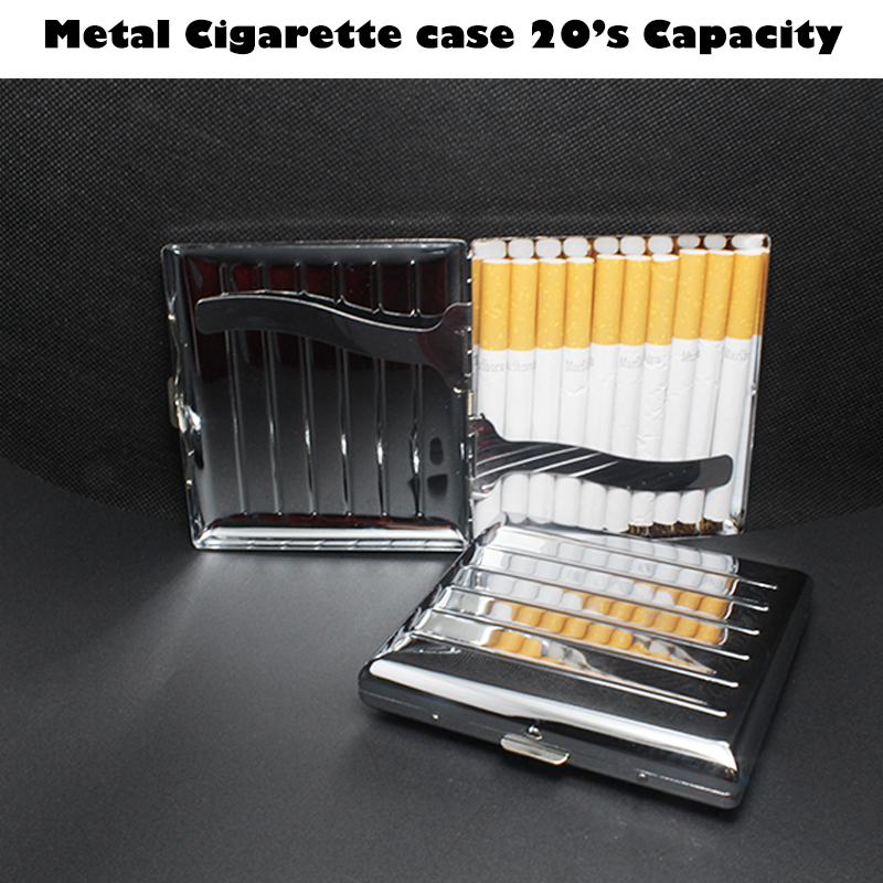 Aluminum Metal Cigar Cigarette Hard Box Holder Tobacco Storage Case A Pack 20pcs Gift Metal Aluminum Cigarette