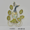 Wholesale peacock animal metal table decorative wall hanging arts manufacturer