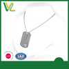 OEM Design New Zinc Alloy Laser engraved Accessory Silver Necklaces Love dog tag Pendant for women