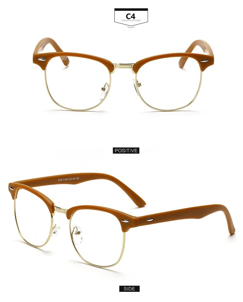 Glasses Numbers On Frame : Hot Sale New Designer Round Men Glasses Retro Fashion ...