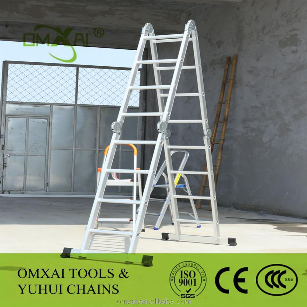 Best price 4x3 4x4 4x5 aluminum multi purpose ladder, multi purpose ladder