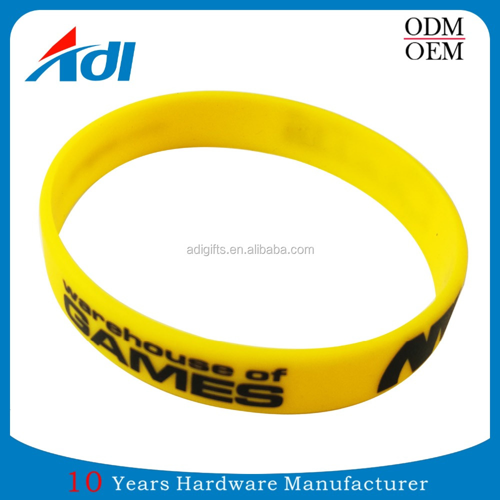 Custom name rubber band silicone rubber sport rubber kids bracelets