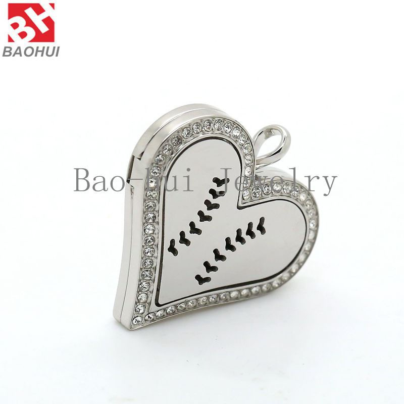 2016 Necklace Diffuser Pendant Silver Heart Shape Hollow Stainless ...