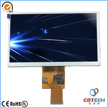 7 zoll TFT LCD 800X480 resoluiton 500 nits helligkeit 40pin rgb-schnittstelle S070WV95
