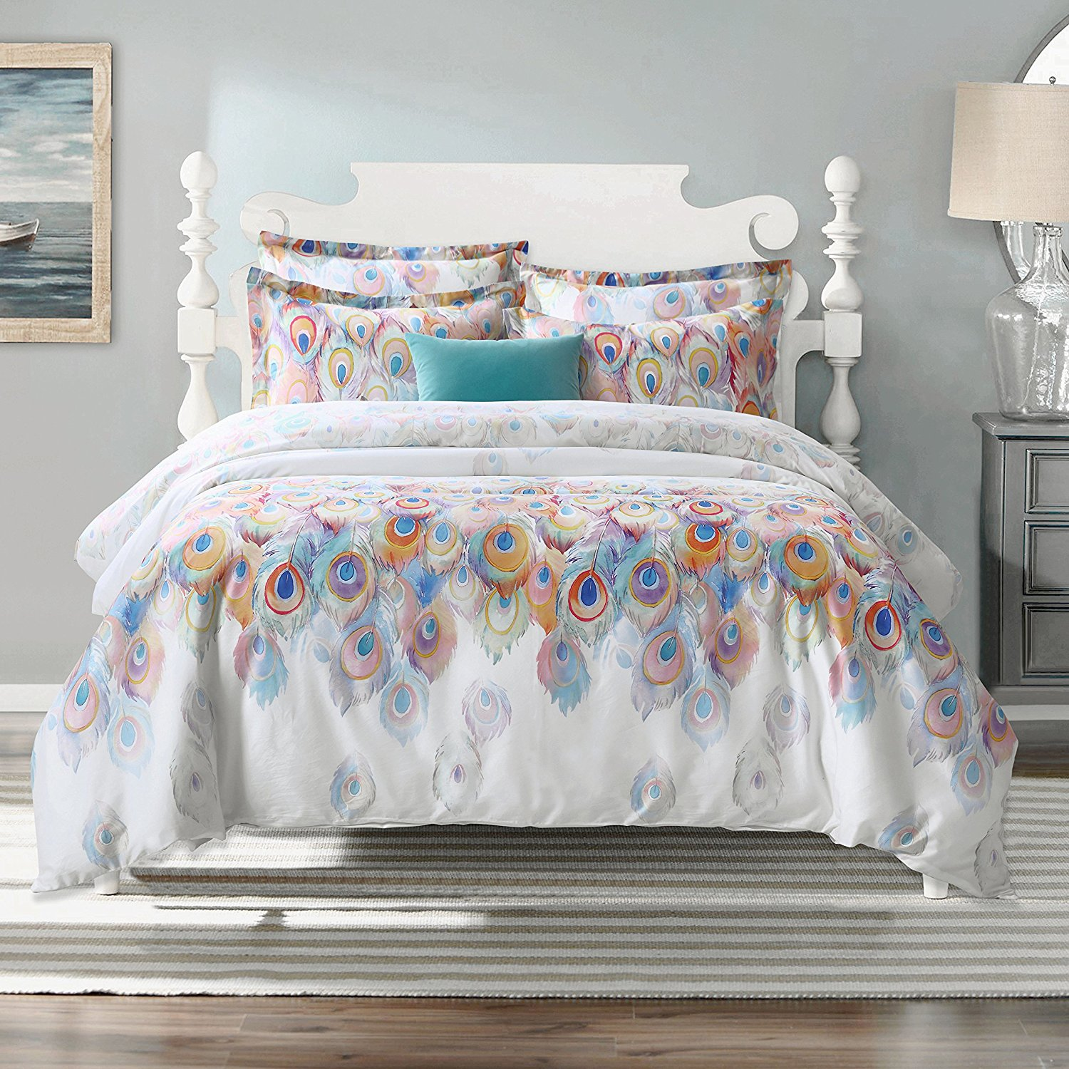 set piece overstock shipping free bedding watercolor paisley today product truly duvet bath cover soft