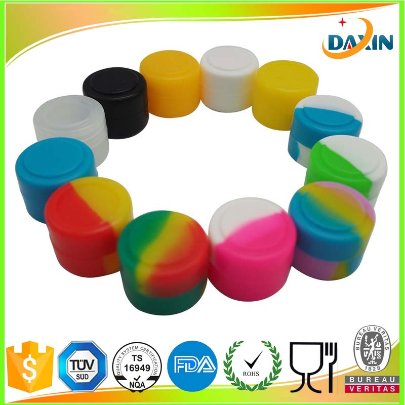 silicone jars dab wax container&silicone wax jar