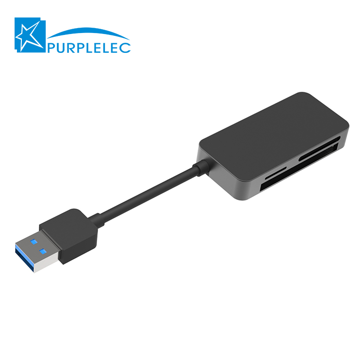 Hot koop custom hub usb 3.0 kabel met sd/tf compact flash kaartlezer