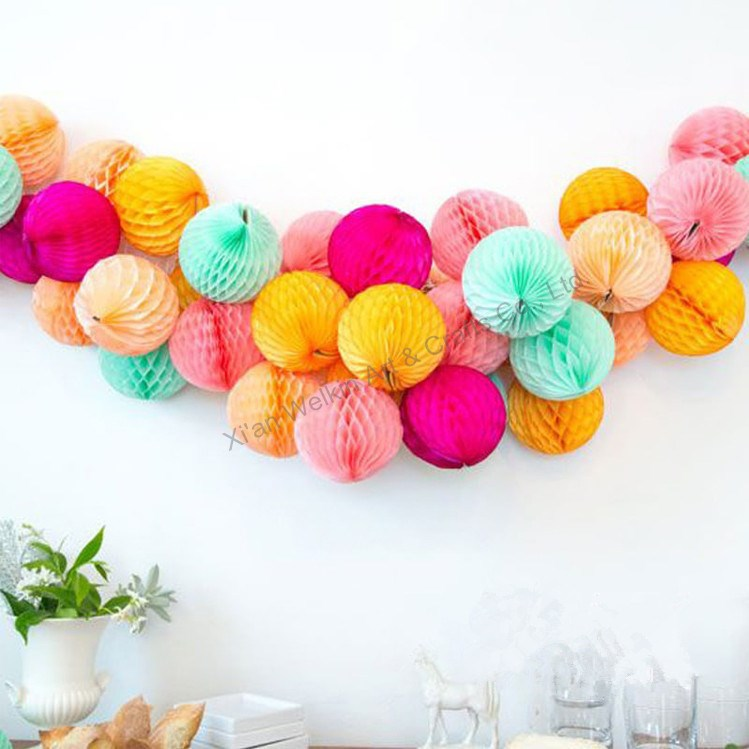 Wedding paper lantern flower garland