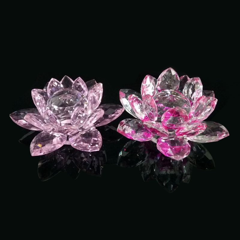 New Crystal lotus flower candle holder with glass stand for decoration wholesale