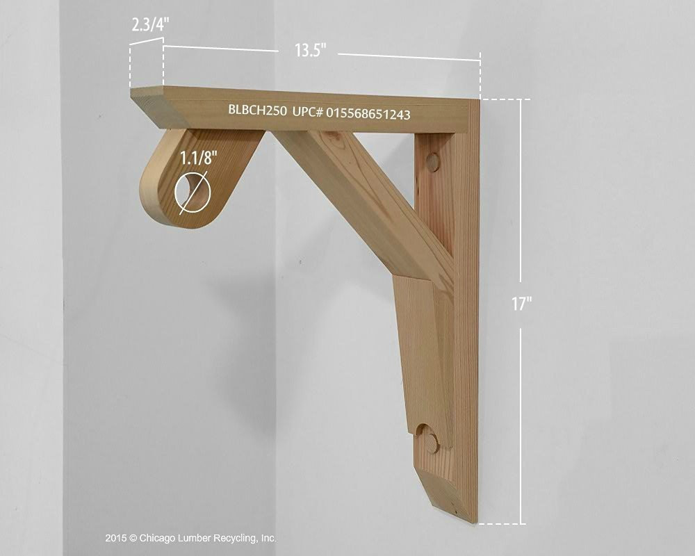 Get Quotations · Single Heavy Duty Shelf And Closet Rod Support, A Unique  Wardrobe Rack Hardware (BLBCH250
