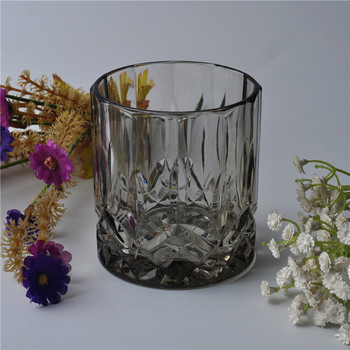 Decorative Black Glass Candle Holders
